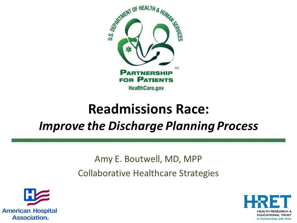 25 Improving the Discharge Planning Process Multidisciplinary team approach CEO Nurses Physicians Pharmacists Information Technologists Dieticians Case Managers Everyone contributes to the discharge process