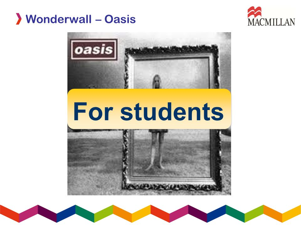 For students Wonderwall – Oasis