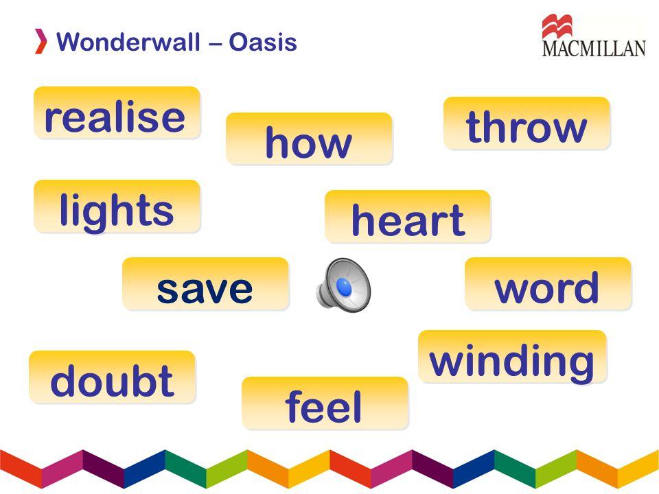 realise lights word feel save how winding doubt heart throw