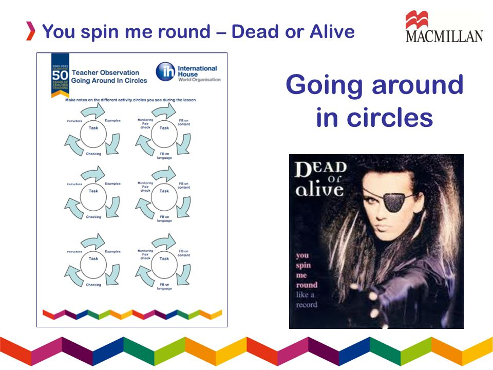 Going around in circles You spin me round – Dead or Alive
