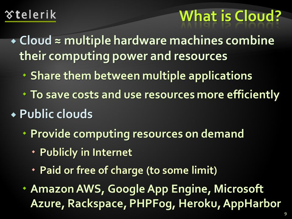 Cloud multiple hardware machines combine their computing power and resources Cloud multiple hardware machines combine their computing power and resour