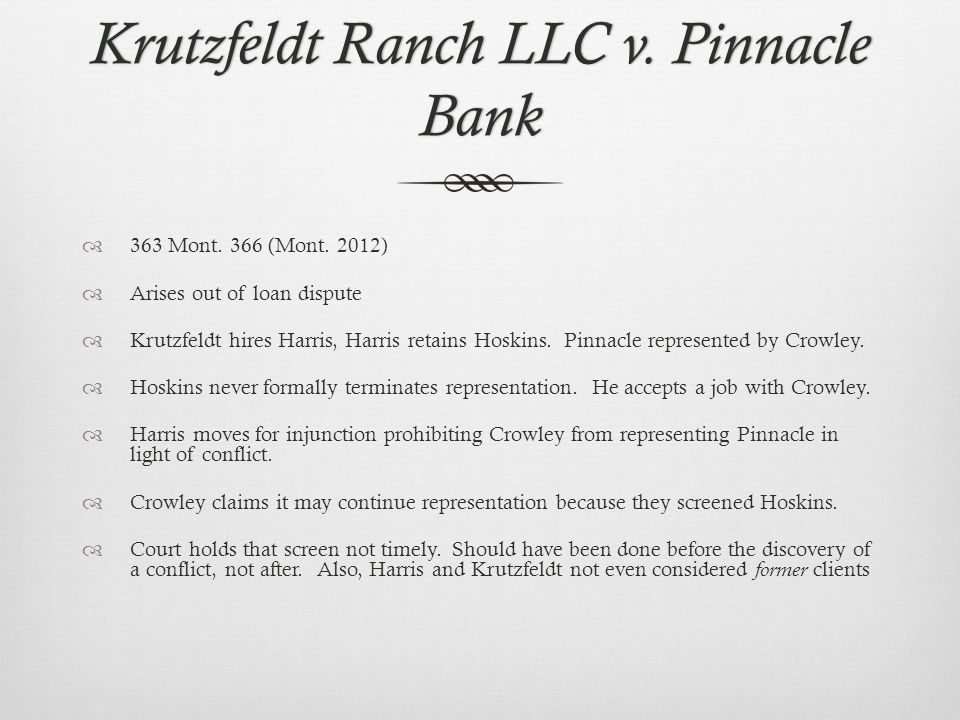 Krutzfeldt Ranch LLC v. Pinnacle Bank 363 Mont. 366 (Mont.