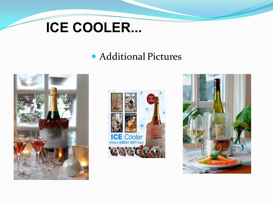 Additional Pictures ICE COOLER...
