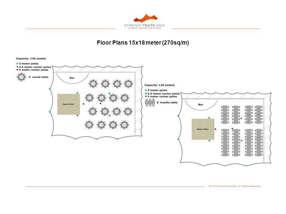 Floor Plans 15x18 meter (270sq/m)