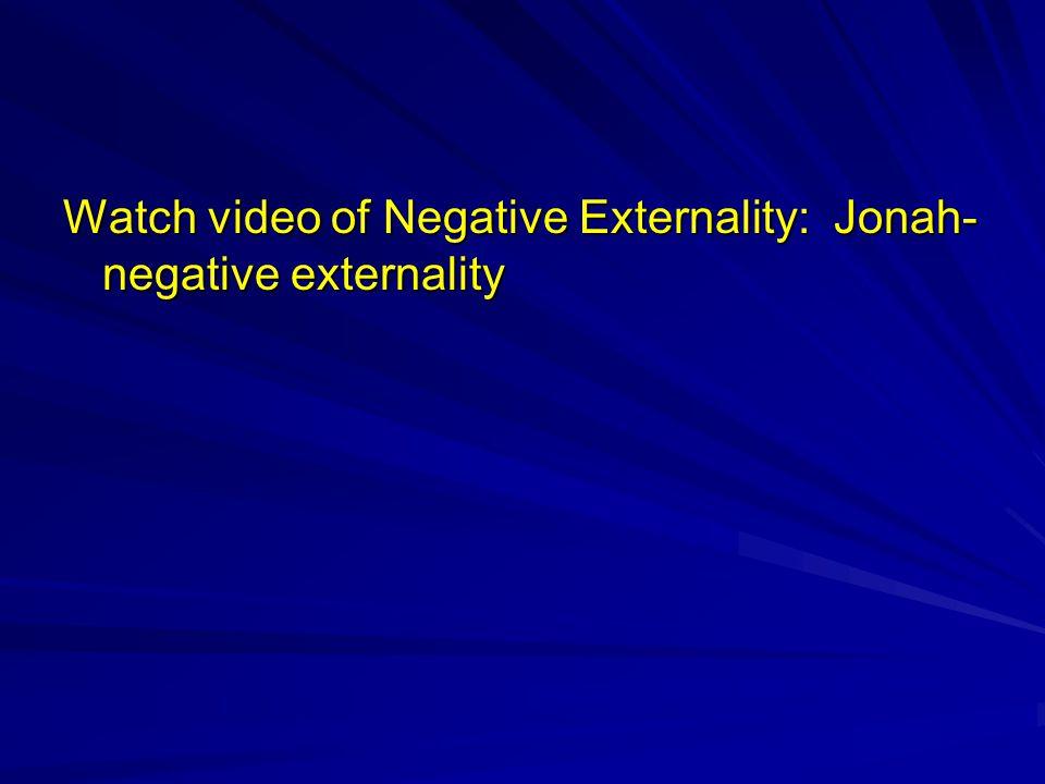 Watch video of Negative Externality: Jonah- negative externality