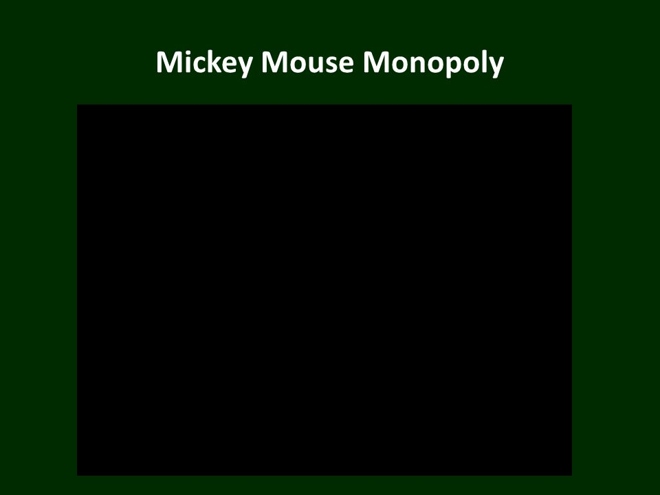 Mickey Mouse Monopoly