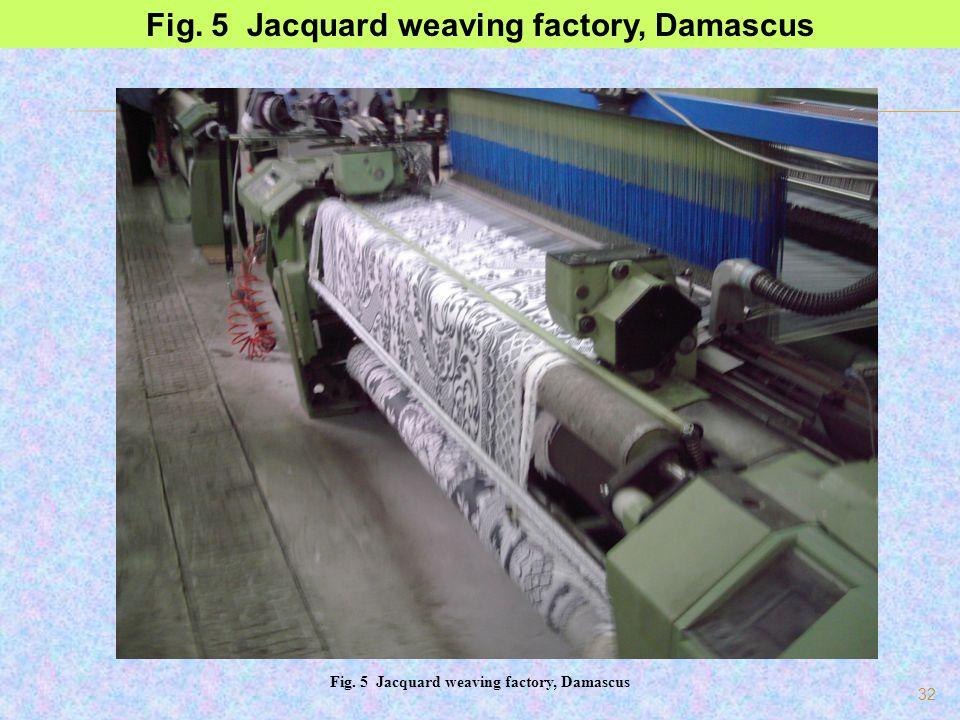32 Fig. 5 Jacquard weaving factory, Damascus