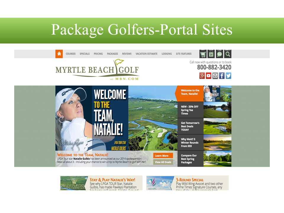 Package Golfers-Portal Sites