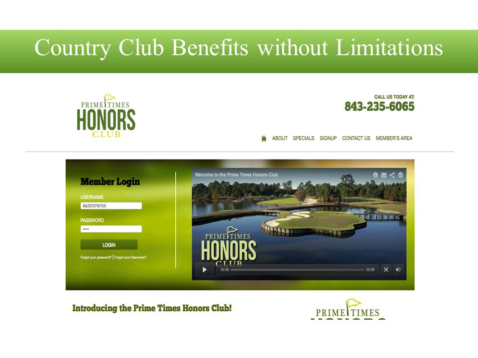 Country Club Benefits without Limitations