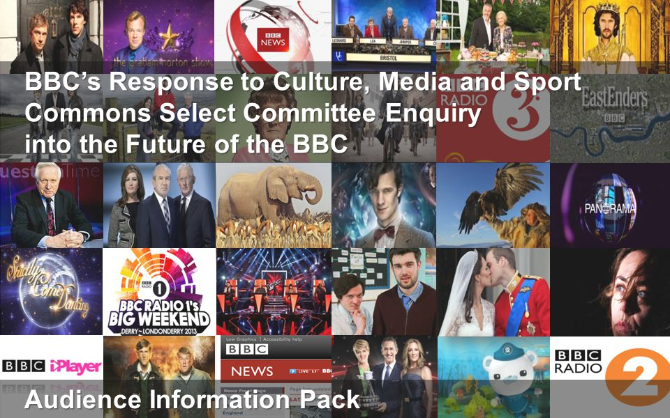 The UK publics relationship with the BBC Over this Charter period, usage of the BBC has remained very high: almost all of the UK uses the BBC each week, for around19 hours on average 1.Their usage of BBC services This is because of the high level of quality that the public associates with BBC programmes and services 2.Their views on the quality of BBC content And it is also because of the extent of the trust that they have in BBC output 3.Their trust in the BBC The time people spend with the BBC, coupled with their appreciation of the content, has meant that support for the BBC has risen over this Charter period 4.Their views on the BBC overall Likewise, while no form of taxation is universally popular, there has also been an increase in public backing for the licence fee as the means of funding the BBC 5.Their views on the licence fee Slide 2