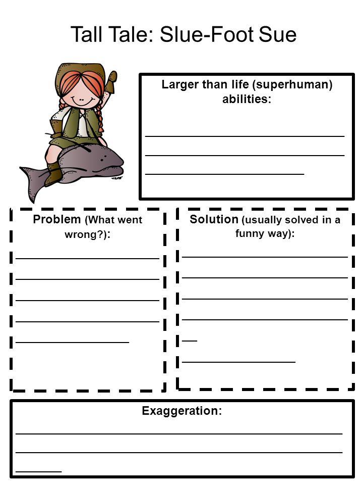 Tall Tale: Slue-Foot Sue Larger than life (superhuman) abilities: ______________________________ ______________________________ ______________________