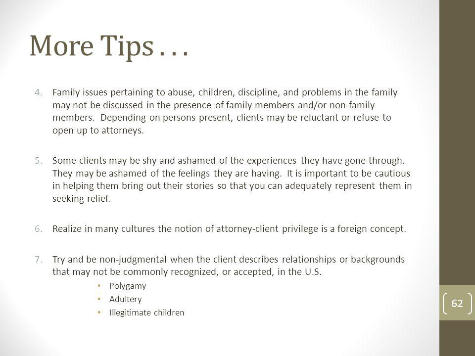 More Tips...