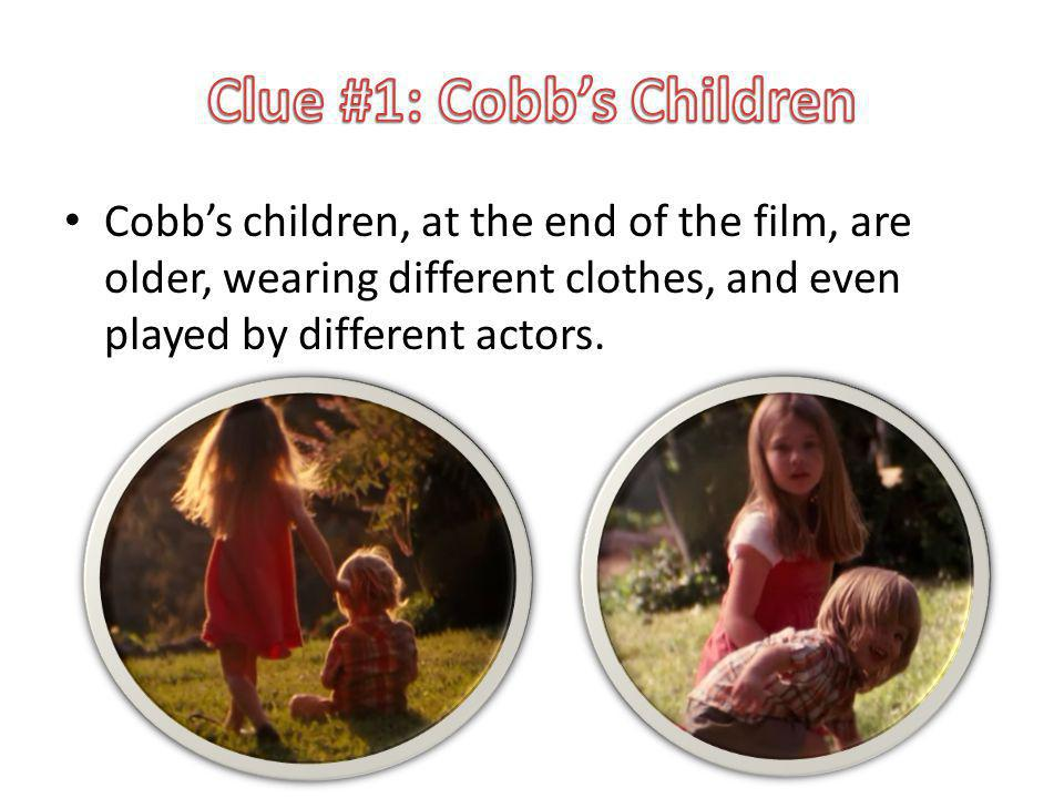 Cobbs children, at the end of the film, are older, wearing different clothes, and even played by different actors.