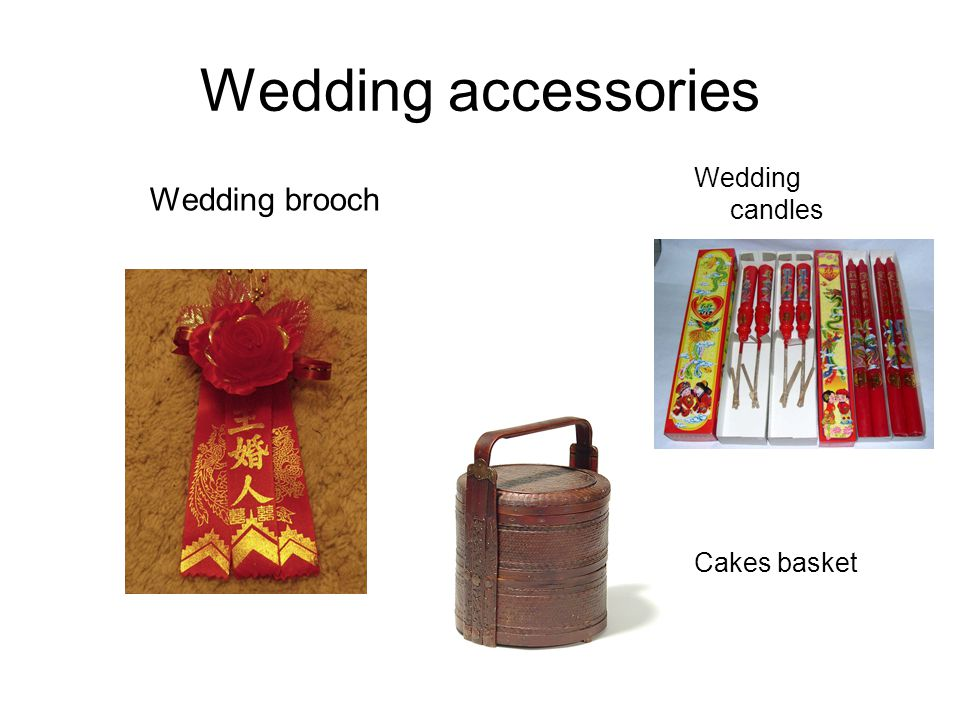Wedding accessories Wedding brooch Cakes basket Wedding candles