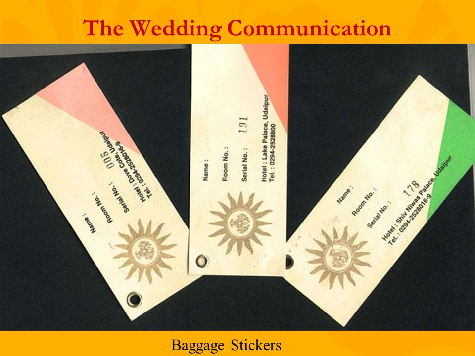 The Wedding Communication Baggage Stickers