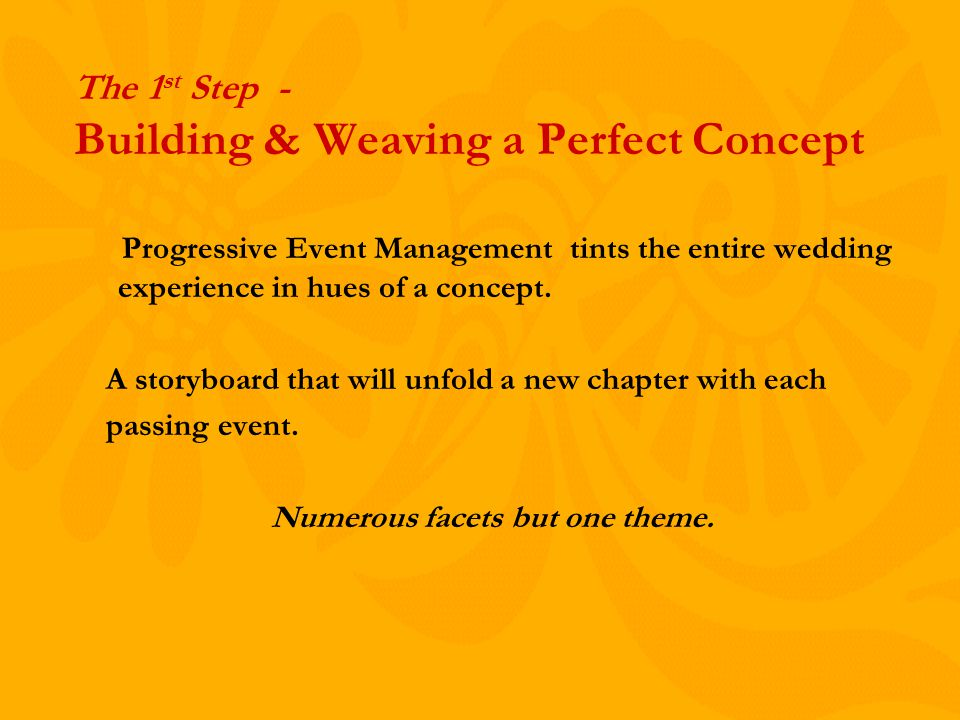 Progressive Event Management tints the entire wedding experience in hues of a concept.