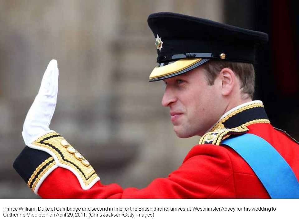 Britain s Prince William and his brother and best man Prince Harry, arrive at Westminster Abbey for Prince William s marriage to Kate Middleton.