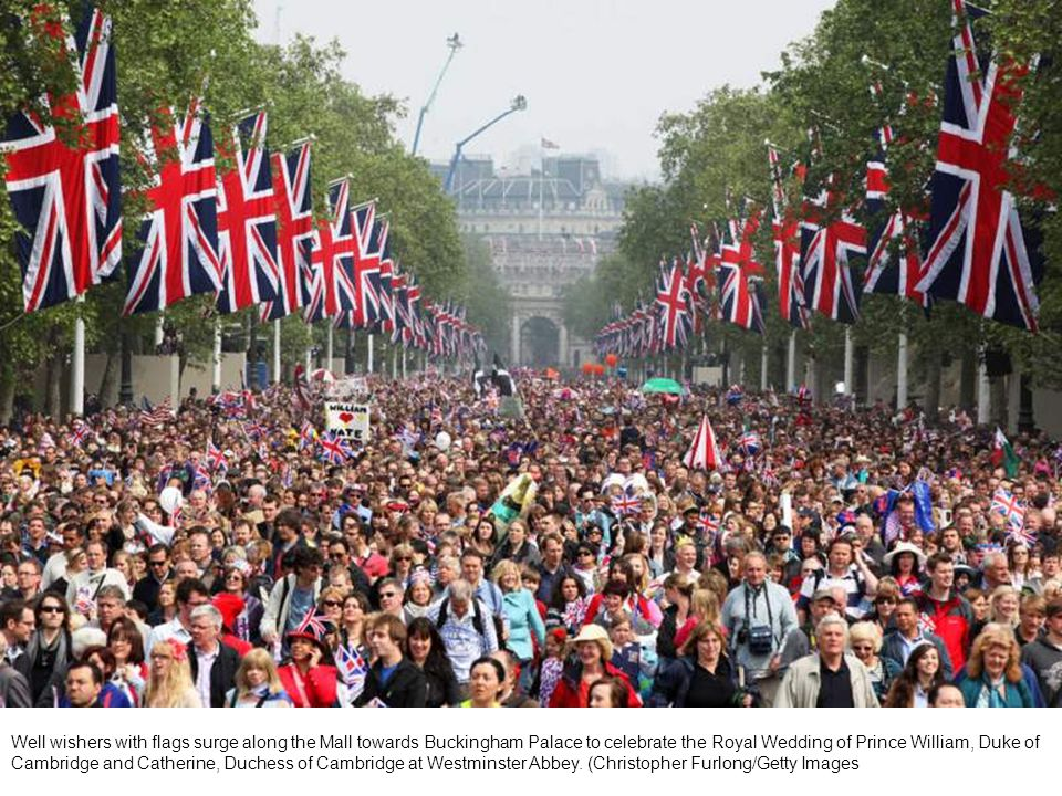 Union Jacks are hung along Regent Street in London in celebration of the forthcoming royal wedding.