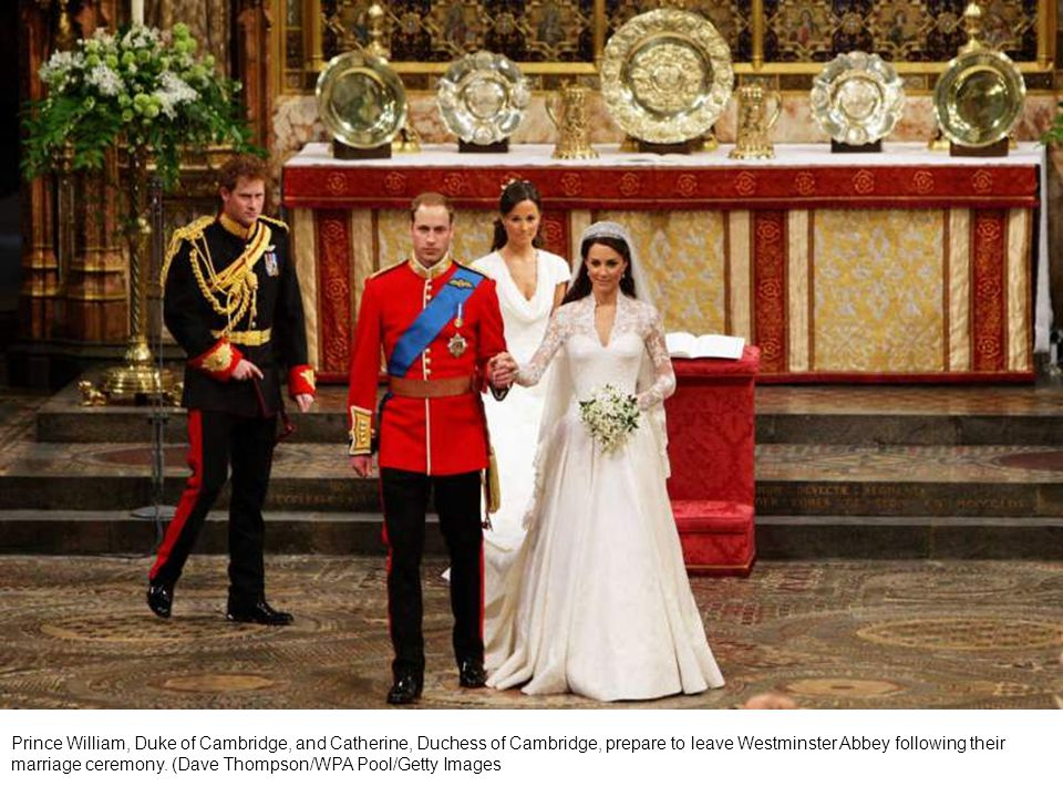 Britain s Prince William and his bride Kate Middleton sit during their wedding ceremony at Westminster Abbey in central London April 29, 2011.