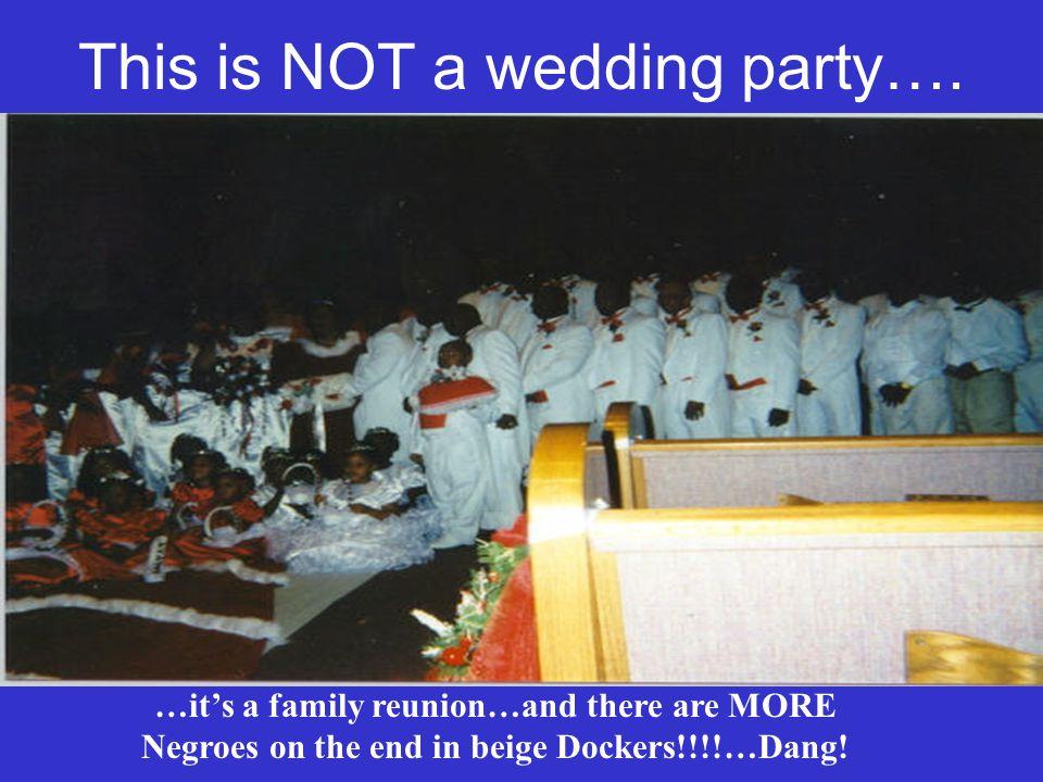 Sad…Just Sad Notice the brides train….Ho.Ho. Ho.