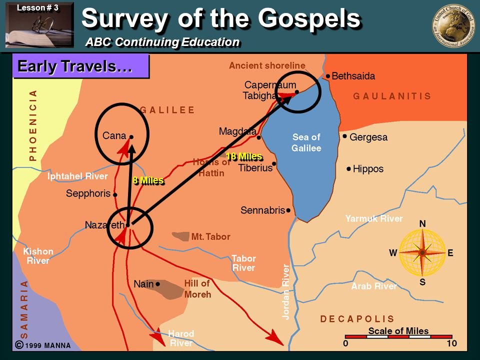 Lesson # 3 Survey of the Gospels ABC Continuing Education © 2002 MANNA All Rights Reserved.