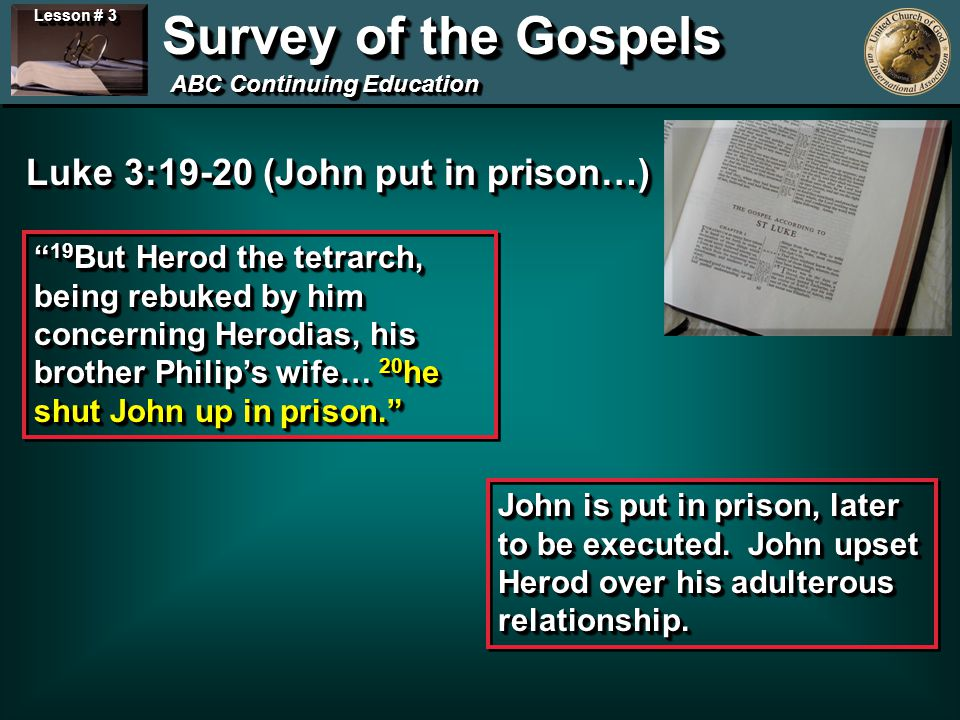 Lesson # 3 Survey of the Gospels ABC Continuing Education 1 st Sabbath controversy… John 5:8-16 Jesus said to him, Rise, take up your bed and walk.