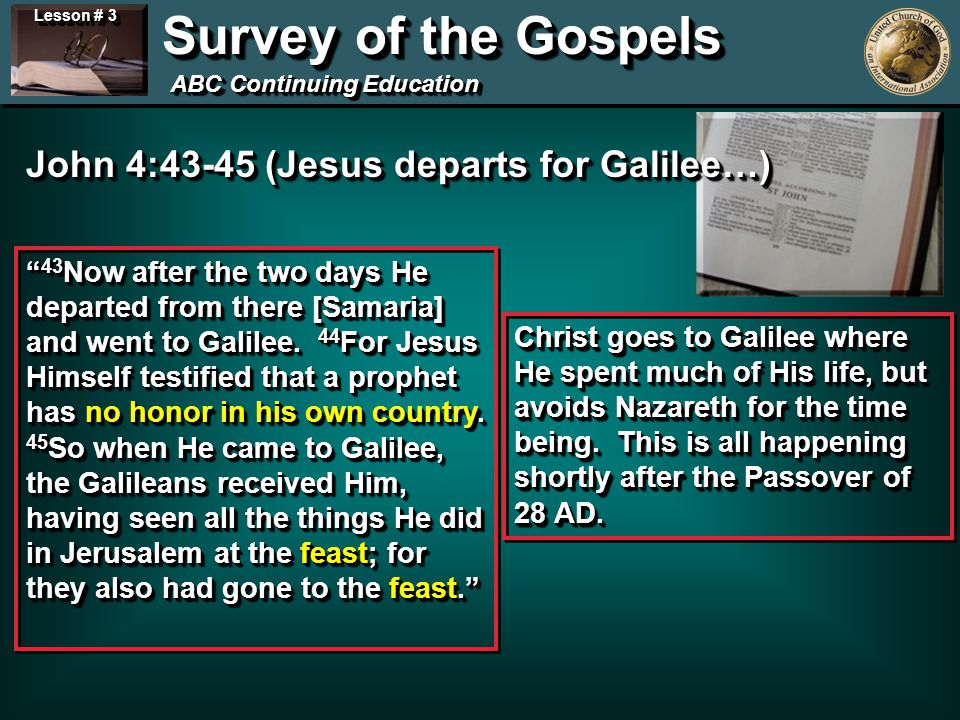 Lesson # 3 Survey of the Gospels ABC Continuing Education 2 nd Sabbath controversy… Mark 2:23-24, 27-28 And it happened that He went through the grain fields on the Sabbath; and as they went His disciples began to pluck the heads of grain.