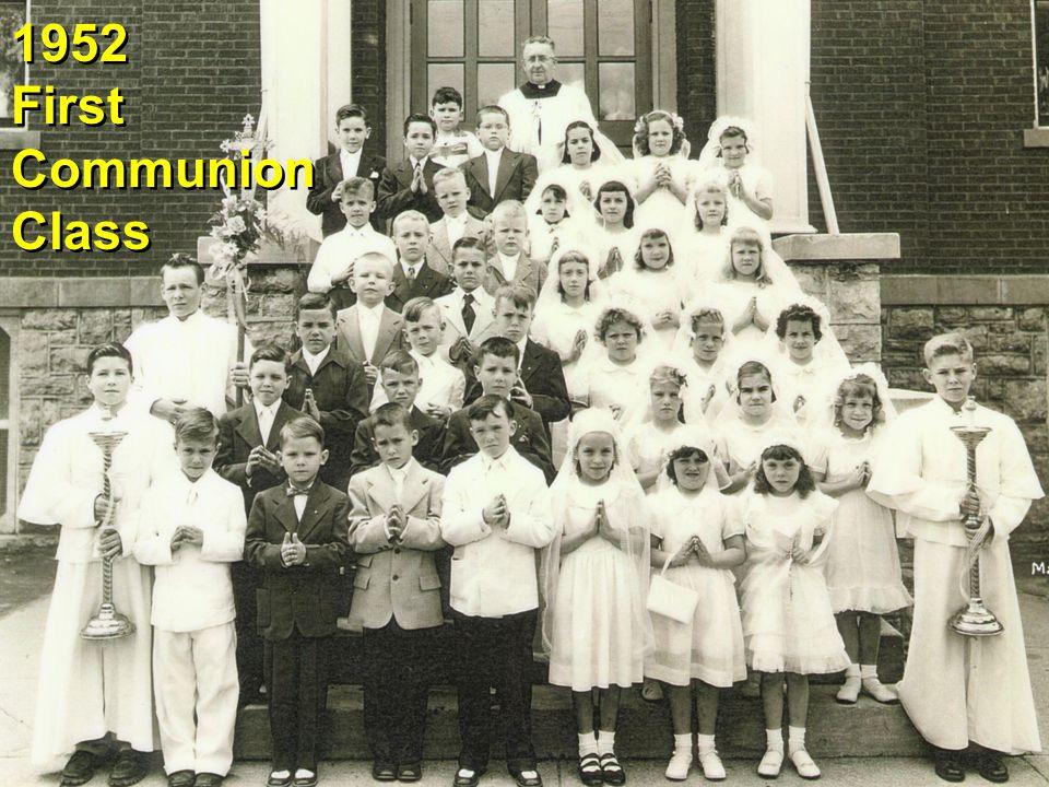 1952 First Communion Class