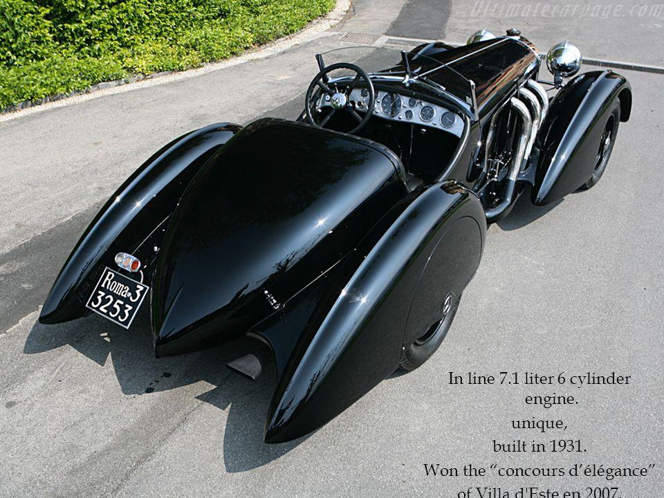In line 7.1 liter 6 cylinder engine. unique, built in 1931.