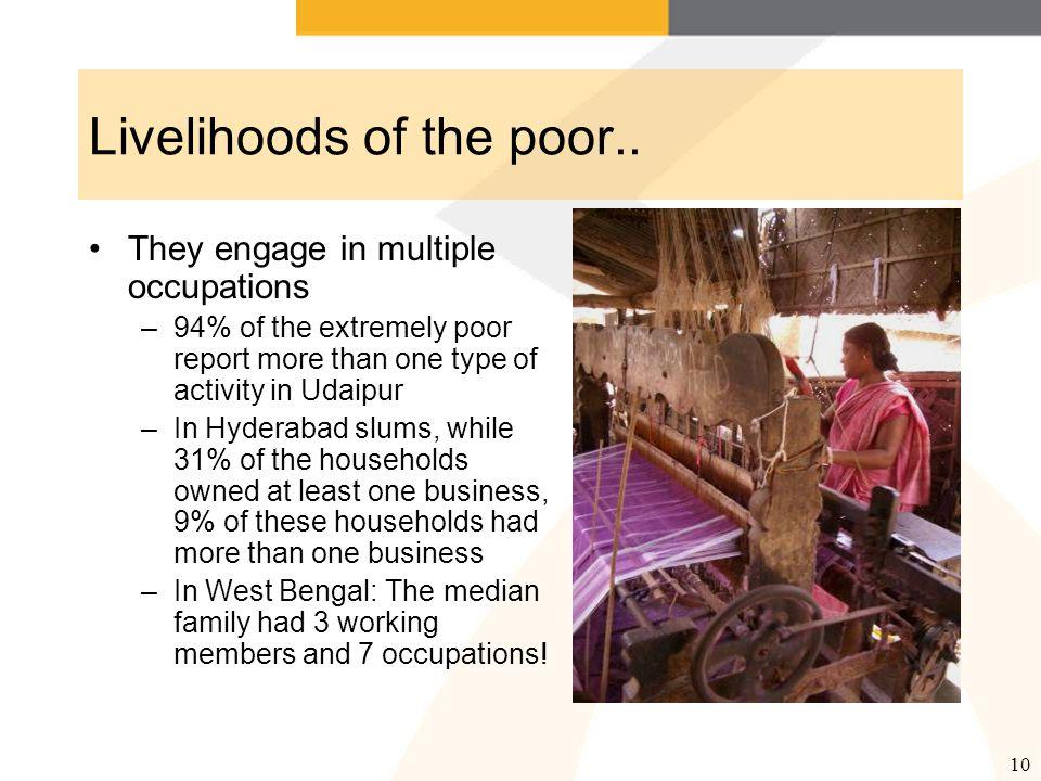 11 Livelihoods of the poor..