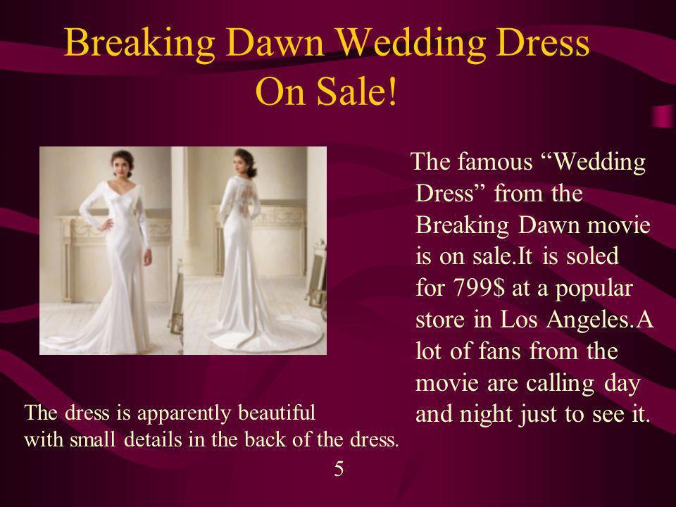 Breaking Dawn Wedding Dress On Sale.