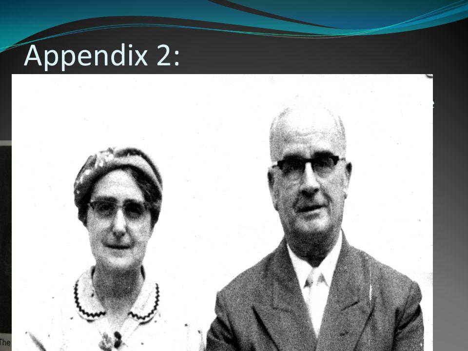 Appendix 2: Walter S. Blick (1898) (1943) & Fanny R.