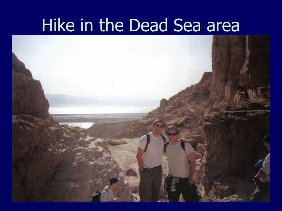 Hike in the Dead Sea area
