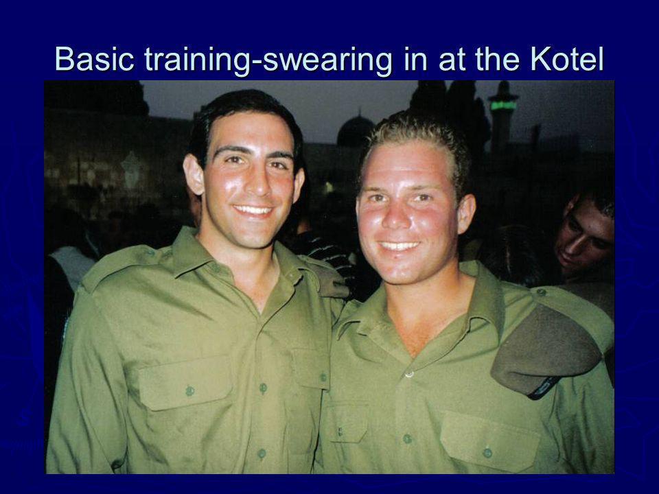Basic training-swearing in at the Kotel