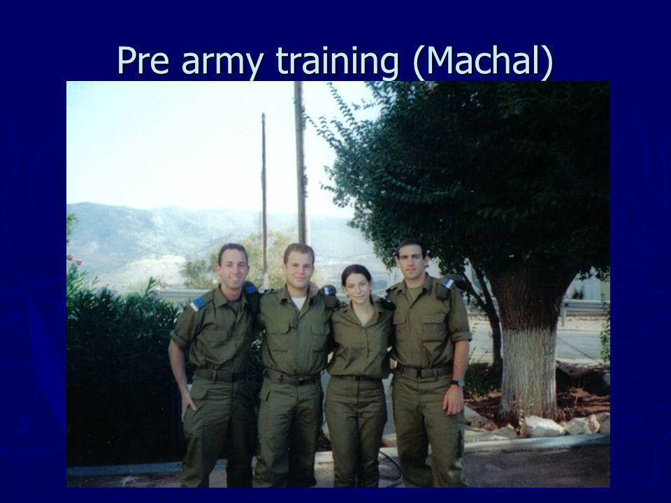 Pre army training (Machal)