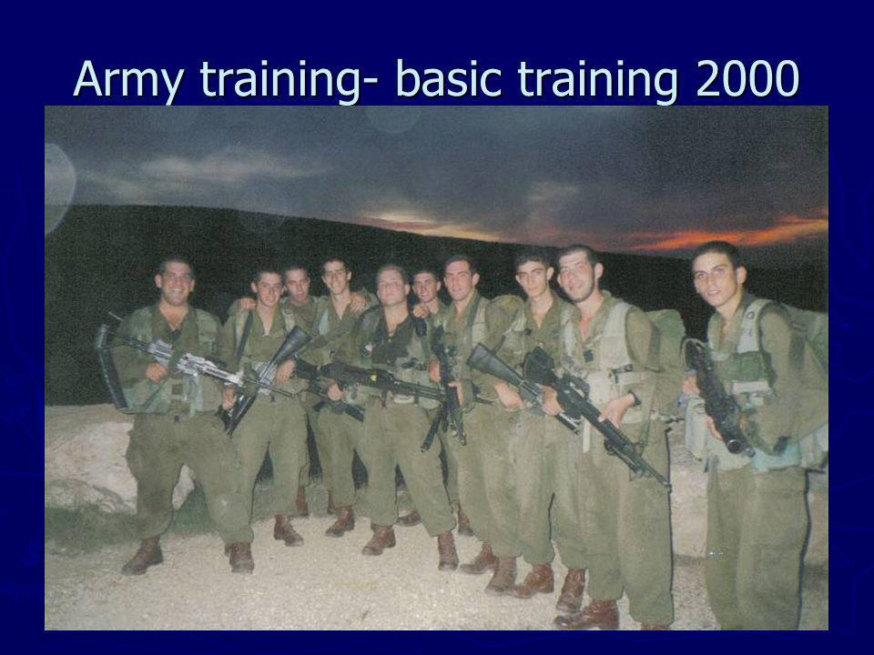 Army training- basic training 2000