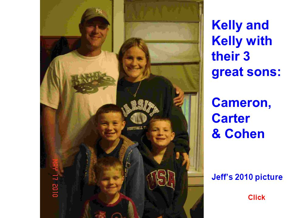 Kelly and Kelly with their 3 great sons: Cameron, Carter & Cohen Jeffs 2010 picture Click