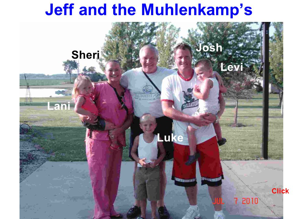 Jeff and the Muhlenkamps Levi Luke Lani Click Josh Sheri