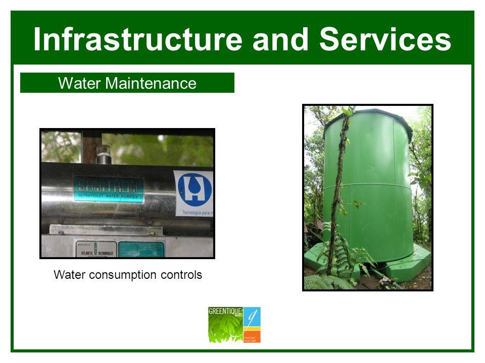 Infrastructure and Services Water Maintenance Villa Blanca Si Como No Manuel Antonio Water consumption controls