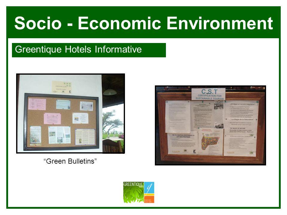 Socio - Economic Environment Greentique Hotels Informative Villa Blanca Manuel Antonio Green Bulletins
