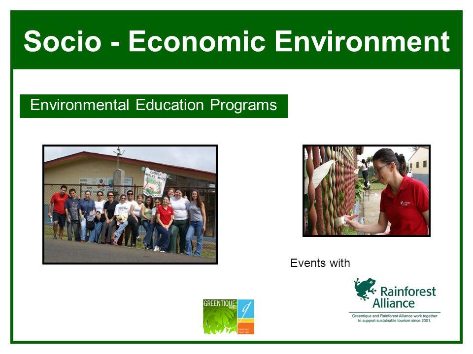 Socio - Economic Environment Environmental Education Programs Villa Blanca Manuel Antonio Events with
