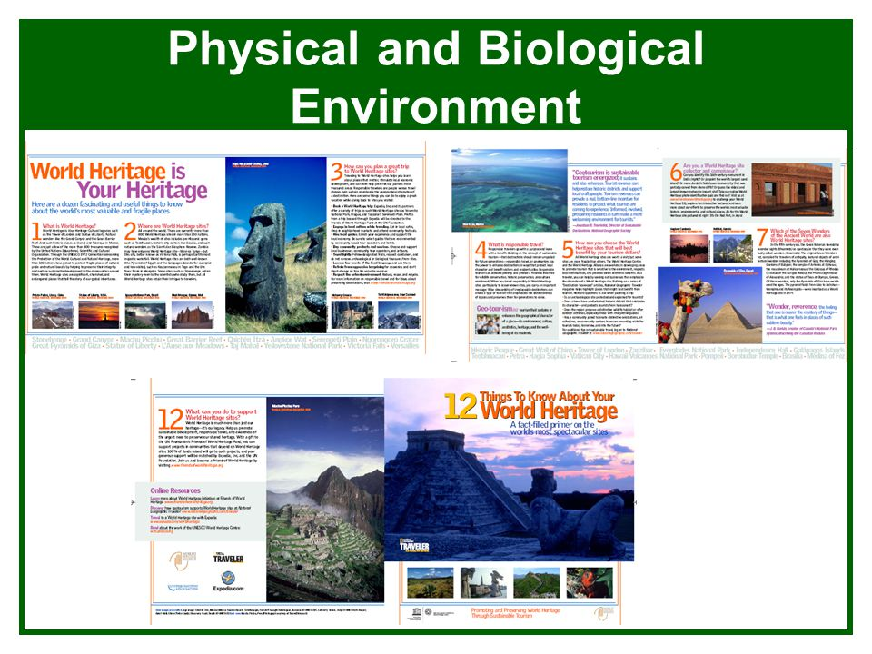 Physical and Biological Environment