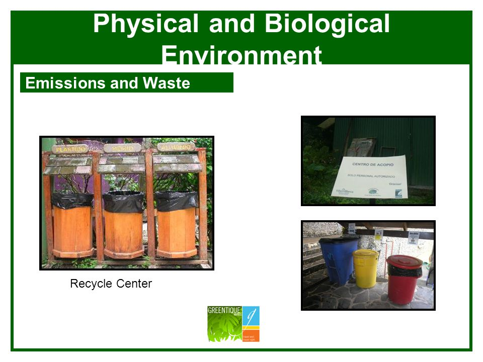 Physical and Biological Environment Emissions and Waste Si Como No Grease Tramps Laundry Grey Water Plant
