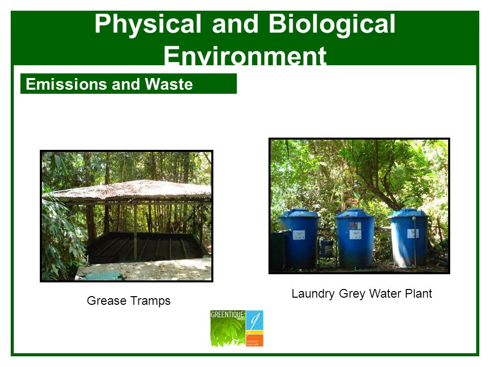 Physical and Biological Environment Emissions and Waste Production of bacterias for the sanitation plant Bocachi and Worm Compost