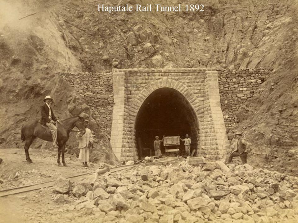 Railway line construction - Haputale