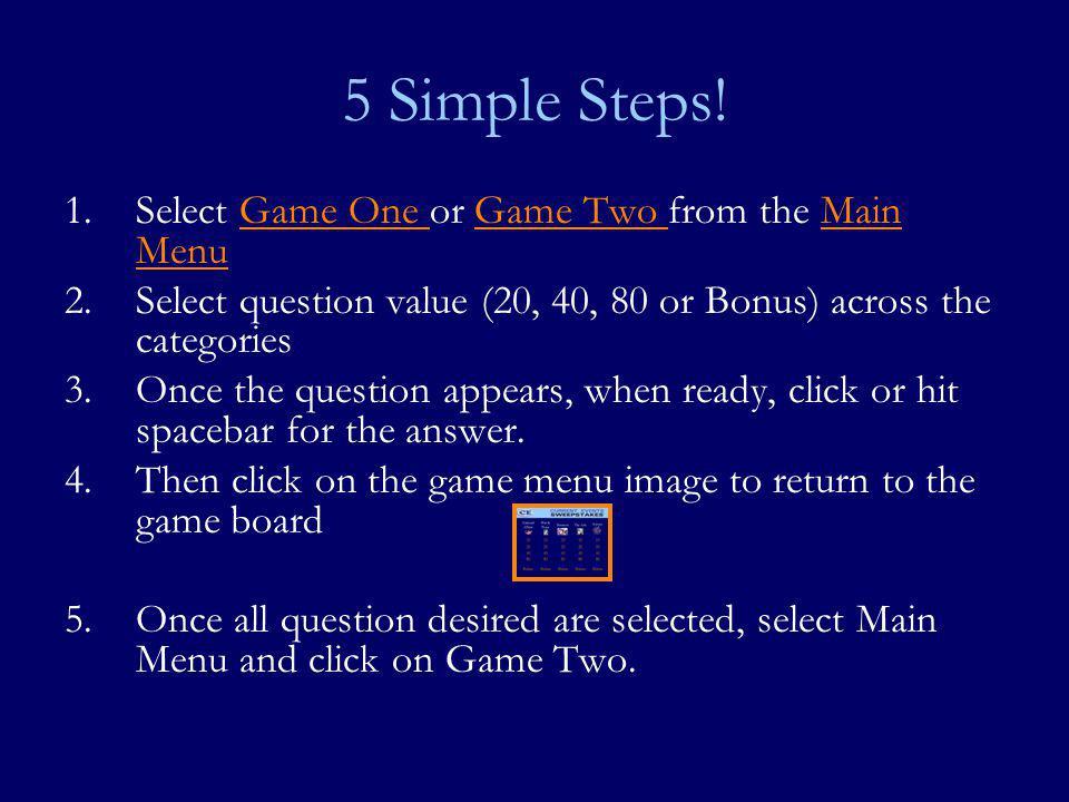 5 Simple Steps.