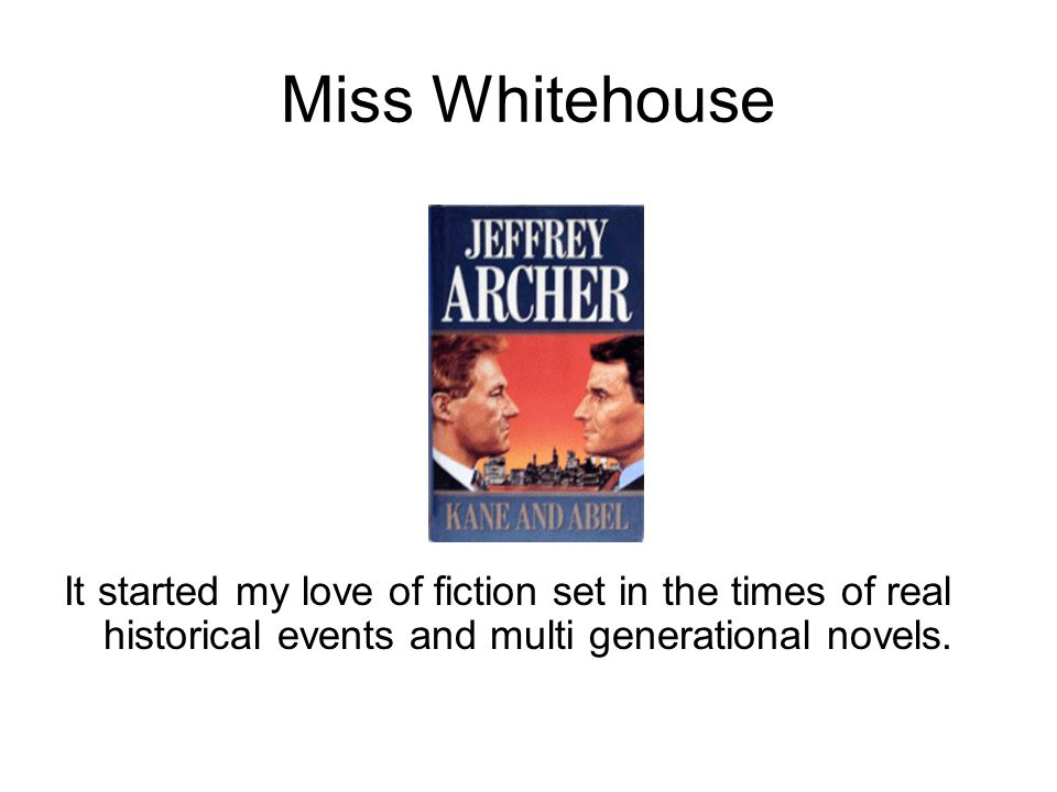 Miss West The Catcher in the Rye – J D Salinger One of the most important American novels of the 20th century.