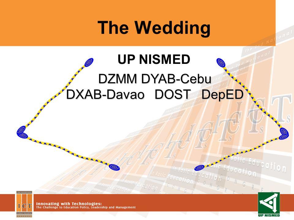 The Wedding DZMM DYAB-Cebu DXAB-Davao DOST DepED UP NISMED
