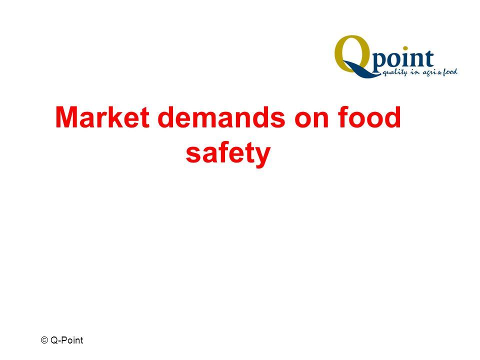 © Q-Point Market demands on food safety