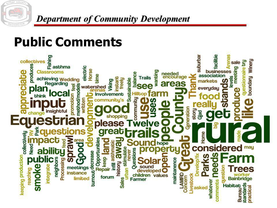 February 24, 2006 Department of Community Development Public Comments